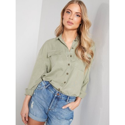 Miss Selfridge Tencel Utility Shirt VKHURIN