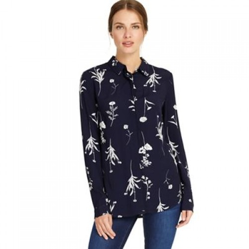 Navy Sarah sprig print shirt Collection Woodstock Top style blouses PVRBZQM