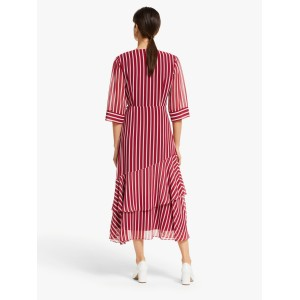 Marella Fortuna Stripe Dress Red  OJGCJAM