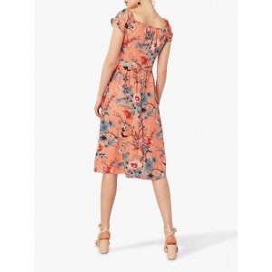 Oasis Floral Print Dress Multi/Orange  MROGOUT