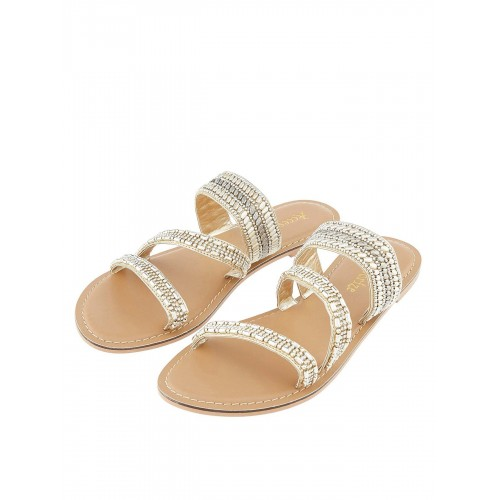 Accessorize Boston Embellished Slide - Gold SLESMJA