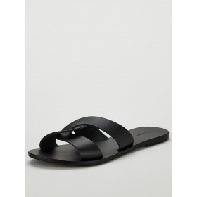 V by Very Harper leather twist mule sandal  IFNOKKU