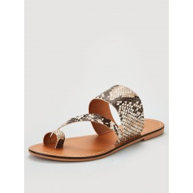 V by Very Helga leather toe post aysmetric sandal  UKMAFXR