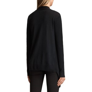AllSaints Drina Ribbed Cardigan Black  ETETRQL