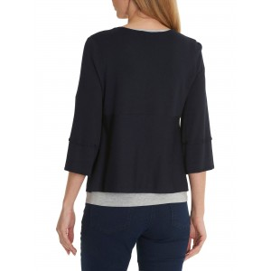 Betty Barclay Short Fine Knit Cardigan Dark Sky  SWWYDVQ