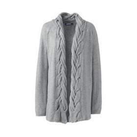 Grey plus soft leisure cable placket cardigan Beautifully soft open-front cardigan Made from our irresistibly soft eco-friendly fabric blend UOEAJFB