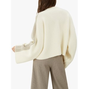 Jaeger Cable Knit Wool Jumper Ivory  TXHKDEE